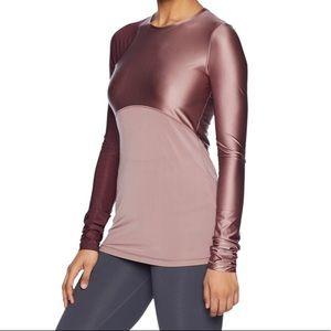Nike Pro Hypercool long sleeve satin look shirt